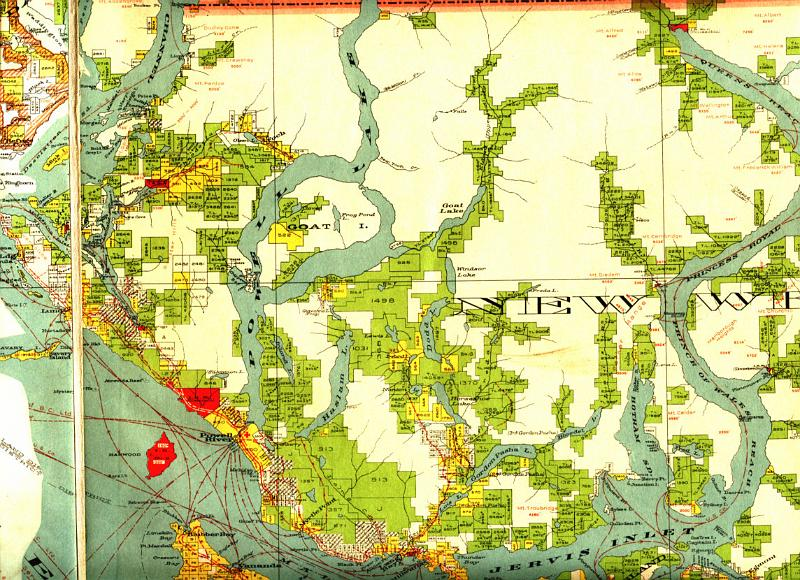 1923 map Powell Lake